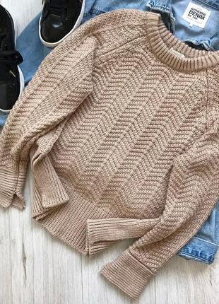 Тёплый, стильный свитер телесного цвета 😍 состояние нового