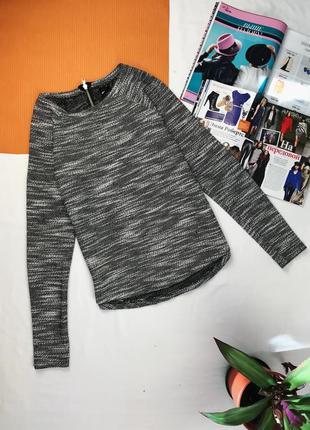 Кофта тепла с молнией на спинке базовая кофта свитер джемпер на молнии сзади