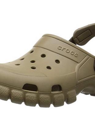Кроксы crocs offroad sport clog m7 w9 39-40 цвет khaki \ walnut