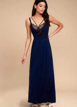 Вечернее, выпускное нарядное синее платье debut (англия) от debenhams на новый год