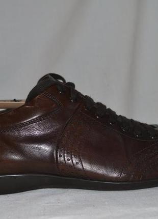 Hugo boss 44.5-45р туфли юотинки кожаные. оригинал.made in italy