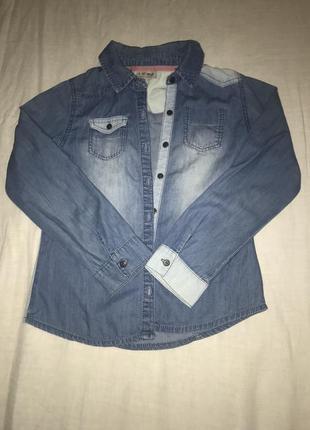 Очень красивая джинсовая рубашка next