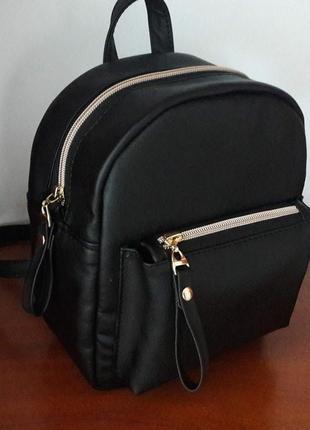 Женский чёрный рюкзак для города, учебы, прогулок