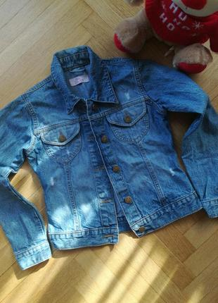 Джинсовый пиджак на девочку подростка
