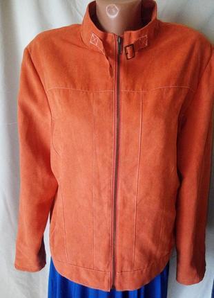 Куртка курточка ткань под замш замшевая