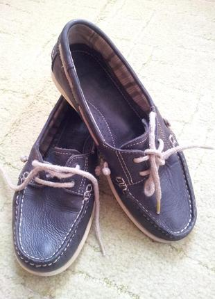 Camel active кожаные туфли лоферы 38,5 - 39