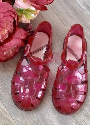 Vip сандали, босоножки, желейки, резиновые сандали, от burberry