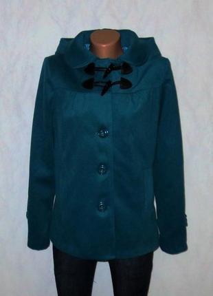 Шерстяное пальто цвета морской волны от y.d. размер: 46-м