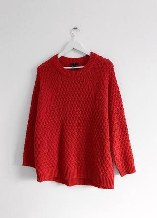 📎 красный свитер h&m