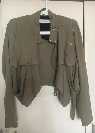 Куртка-пиджак whistles. 100% шёлк.