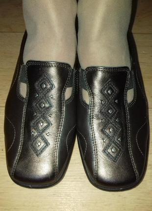Туфли-мокасины кожаные hotter. англия. 23.5 см