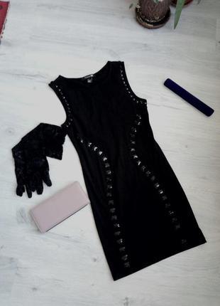 Черное платье миди вечернее коктельное