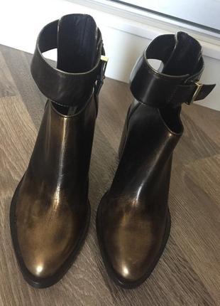 Ботинки,ботильоны,полусапожки,стильные,черевички, натуральная кожа, маленький размер
