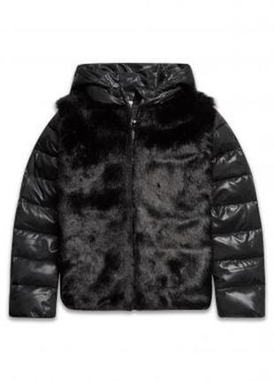 Размера 9,10,11 лет новая зимняя куртка с мехом для девочки, sugar squad(англия)