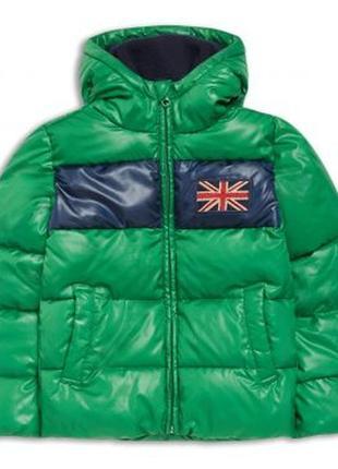 Размера 9,10,11,12,13 лет новая зимняя зеленая куртка для мальчика, riot club, 102628