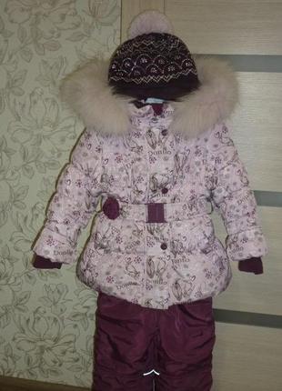 Зимний костюм - комбинезон для девочек donilo 3395 74-98 размер