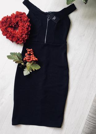 Платье чёрное миди