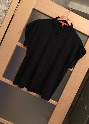 Только до 20.12! темно-синяя рубашка блузка оверсайз (бесплатная доставка)