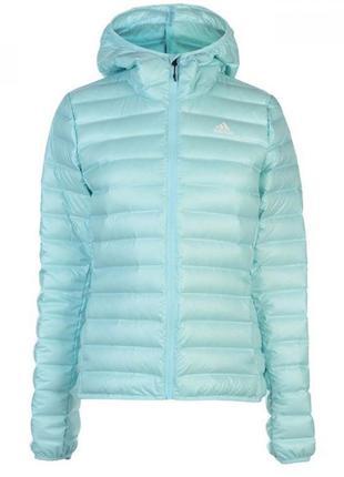 Куртка adidas v lite ho jkt ld81 aqua легкий пуховик