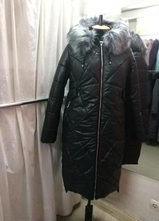 Модное теплое зимнее  пальто / куртка р.44-54