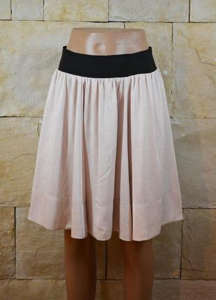 Акция 1+1=3! юбка пудровая атласная h&m1