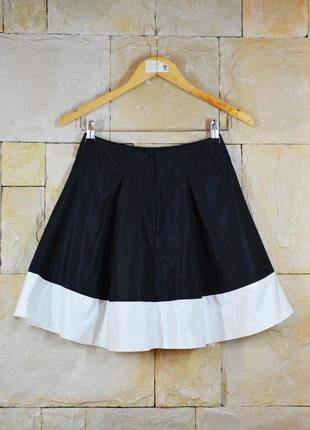 Акция 1+1=3! контрастная двухцветная юбка h&m2