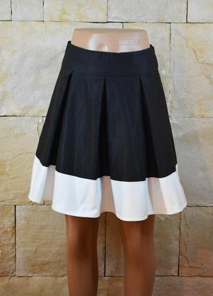 Акция 1+1=3! контрастная двухцветная юбка h&m