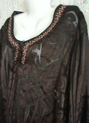 Шелковая блуза, разм. 54-56