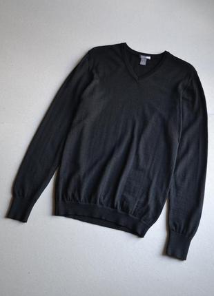 Шерстяной джемпер свитер р.s-m 100% мериносовая шерсть h&m