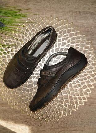 (37,5/24,5см) waldlaufer! германия! кожа! комфортные туфли высокого качества на липучках