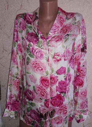 Рубашка пижамная пижама в розы
