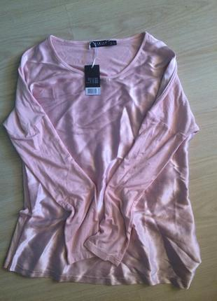 Супер кофта ,блуза  нежно розовая  есть 36 и 38 размеры