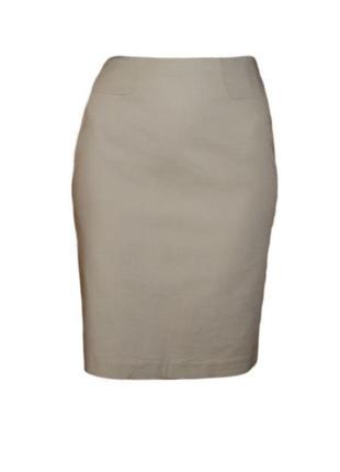Прямая юбка классическая офис строгая ниже колена рельефная ткань размер 12 наш 46