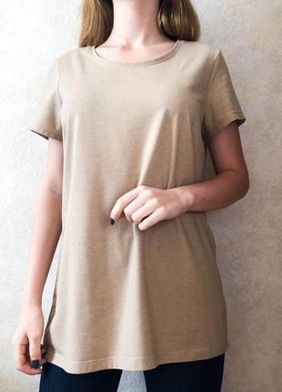 Базовая бежевая футболка janina