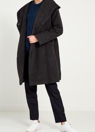 Пальто шерстяное с капюшоном chillin crop