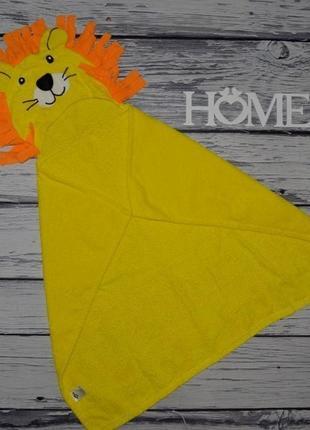 Фирменное натуральное детское полотенце уголок лев львенок