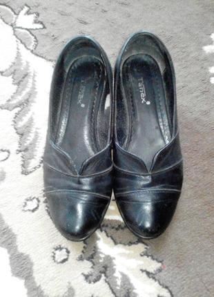 Удобные туфельки кожа