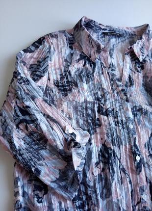 Красивая блуза с эффектом жатой ткани