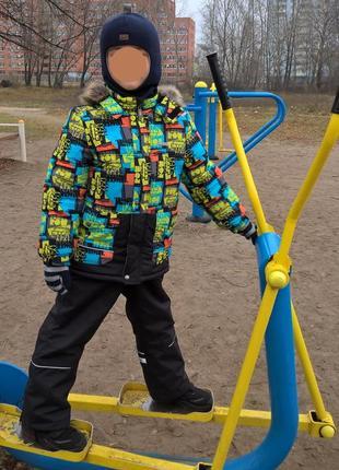 Комплект. зимняя куртка и полукомбинезон штаны lenne р.128см