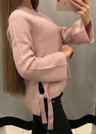Акция 1+1=3 теплый свитер на завязках george, размер 56 - 58
