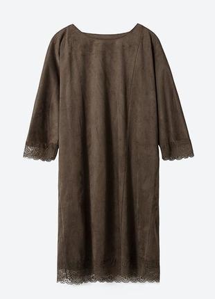 Замшевое платье с кружевом от zara!!!