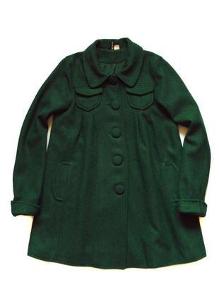 Шерстяное пальто-разлетайка, размер s-m