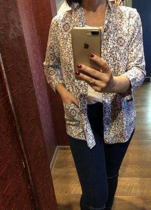 Легкий пиджак/кардиган в цветы new look