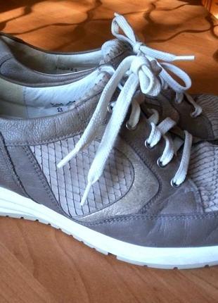 Женские кожаные спортивные ортопедические туфли бренд waldlaufer