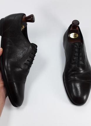 Gucci made in italy мужские кожаные туфли броги оксфорды черного цвета