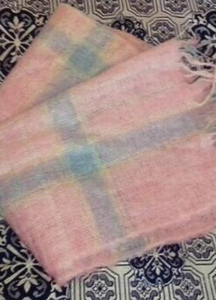 Теплый шарф из натурального мохера англия шотландия