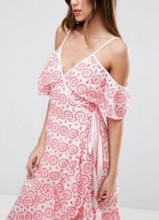 Новое,с бирками платье на запах,100% хлопок от аsos,оригинал2