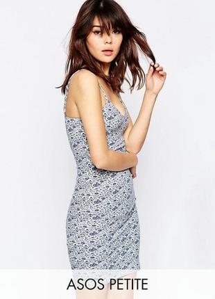 Платье мини с цветочным принтом asos petite