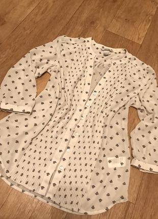 Шифоновая блуза h&m в цветочный принт