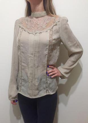 Кружевная блуза sisley